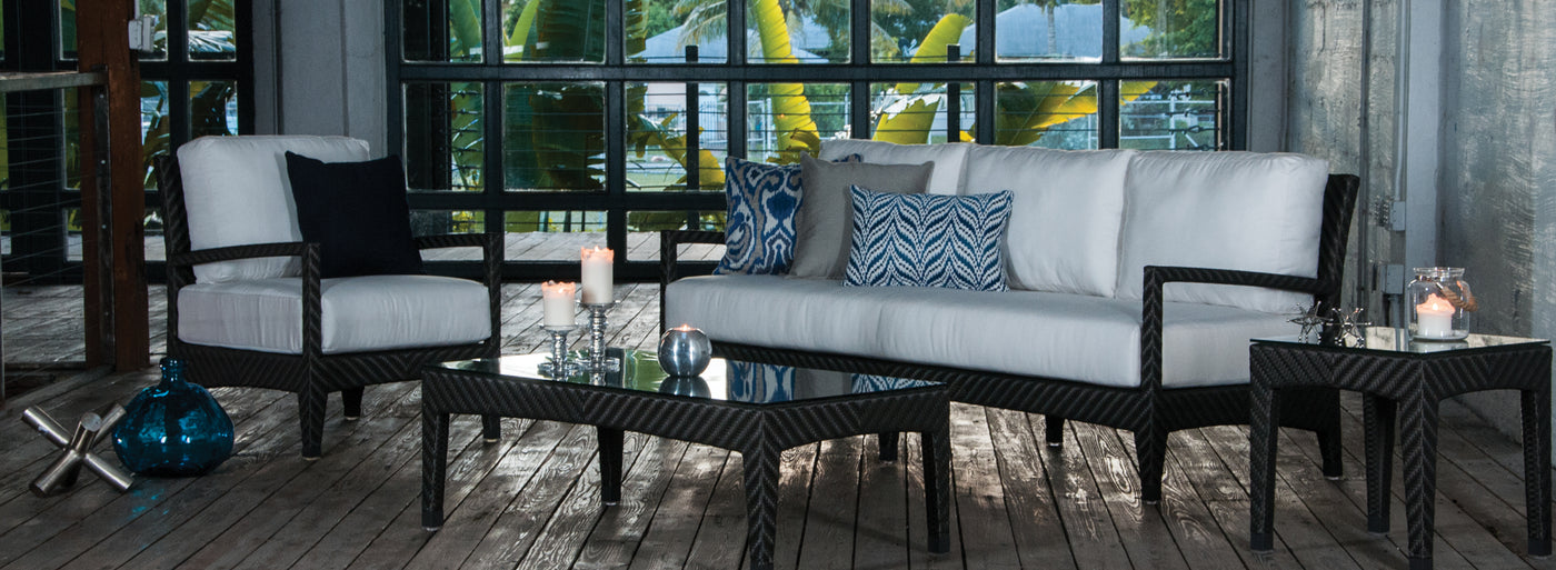 Savannah collection of outdoor furniture.