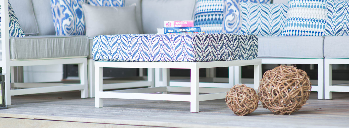 Outdoor ottomans by Kannoa.