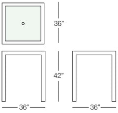 Aria Bar Table Sizes Image