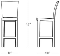 Aria Barstool Sizes Image