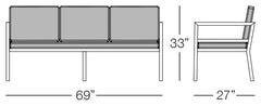 Cali Sofa Sizes Image
