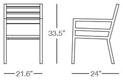 Cali Dining Chair Sizes Image