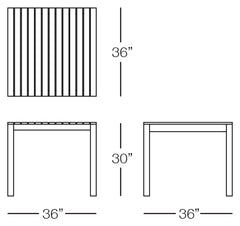 Cali Square Dining Chair Sizes Image