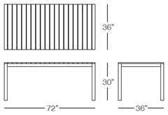 Cali Dining Table Sizes Image
