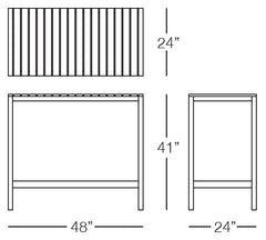 Cali Bar Table Sizes Image