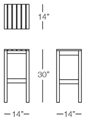 Cali Barstool Sizes Image