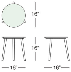 Cancun Side Table Sizes Image