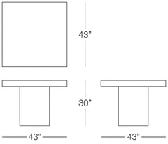 Urban Dining Table Sizes Image