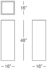 Urban Tall Square Pot Measurements