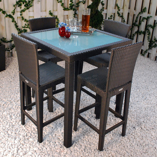 Aria Bar Table with Tempered Glass Top