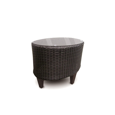 Corona Side Table with tempered glass top