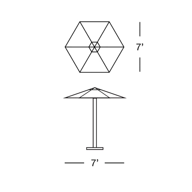 Hexagon Umbrella Classic 7'