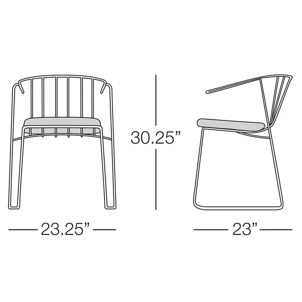 Intercoastal Dining Chair with Arms