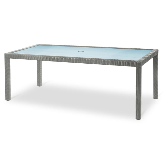 "Marbella 84"" x 40"" Rectangular Dining Table - Silver"