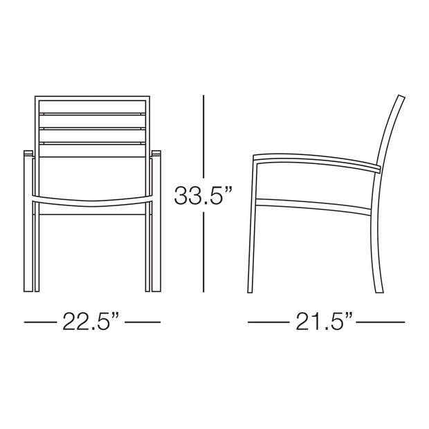 Martinique Dining Chair with Arms