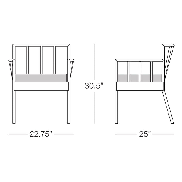 Oslo Dining Chair with Arms