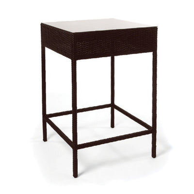 Roma Bar Table with Tempered Glass Top