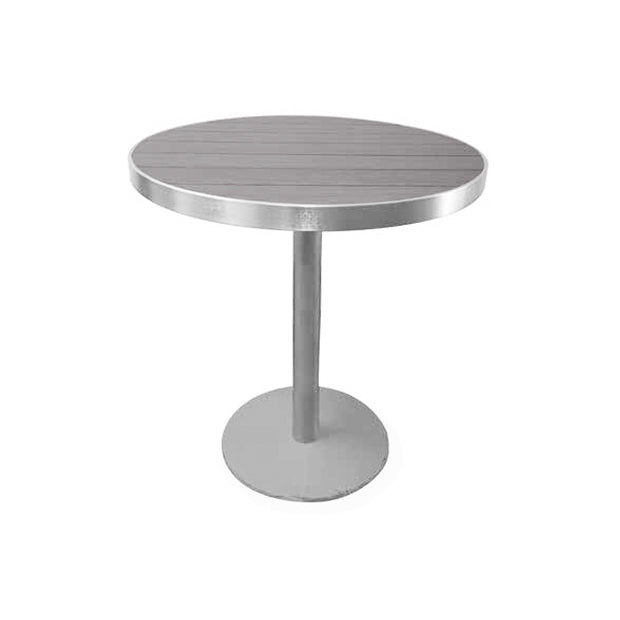 Sicilia Round Pedestal Bar Table with Alumawood