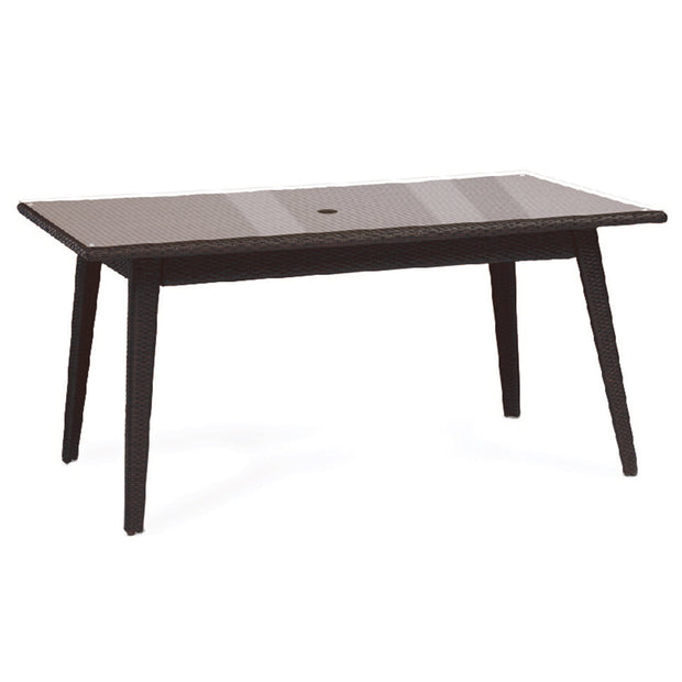 Senna Rectangular Dining Table with Tempered Glass Top