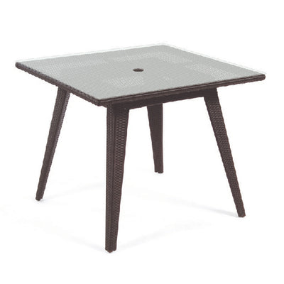 Senna Square Dining Table with Tempered Glass Top