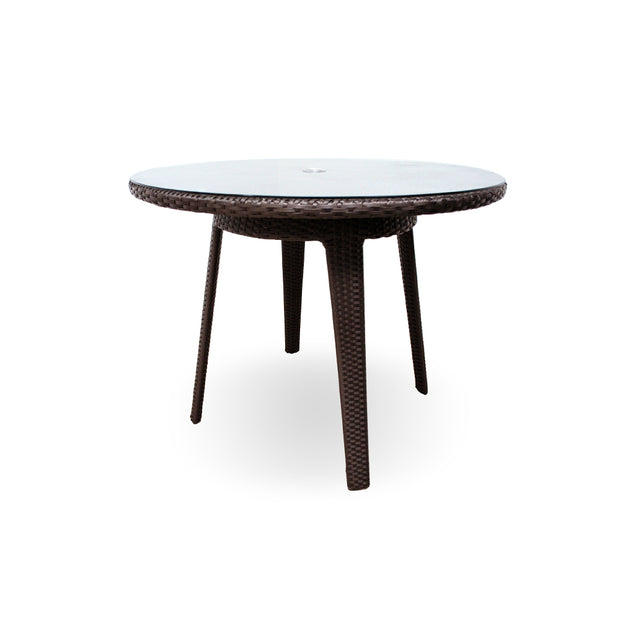 "Senna 40"" Round Dining Table with Tempered Glass Top"