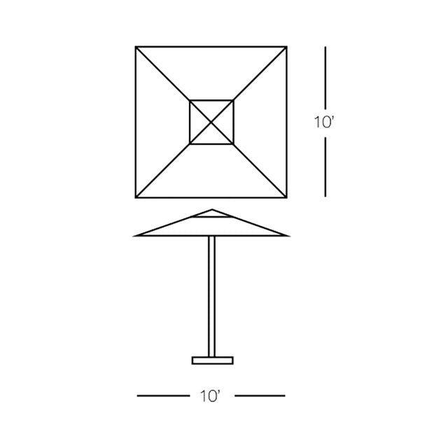 Square Umbrella 10""