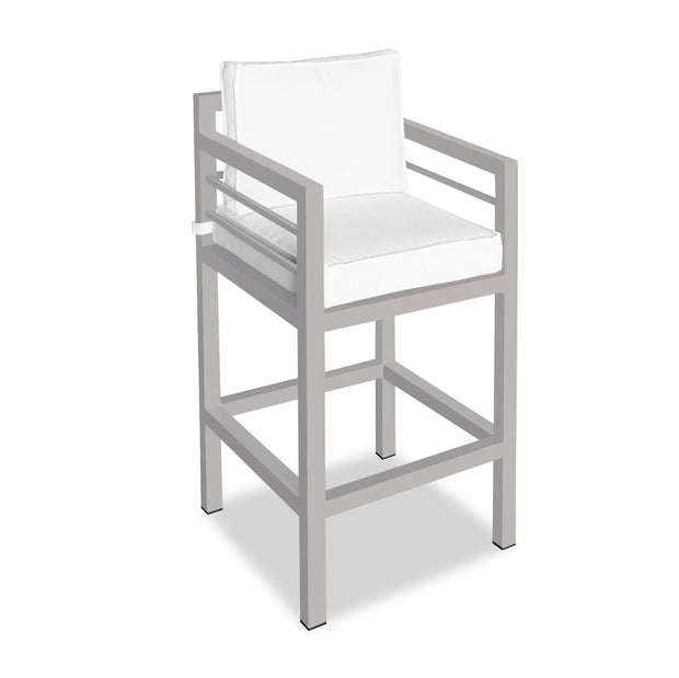 Toledo Barstool with Arms - Agate Gray