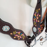 Fiesta Headstall and Breast Collar Set - One-Ear