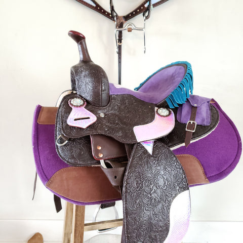 The Mermaid Youth Saddle - PRE-ORDER, Various Sizes, Barrel & Roper