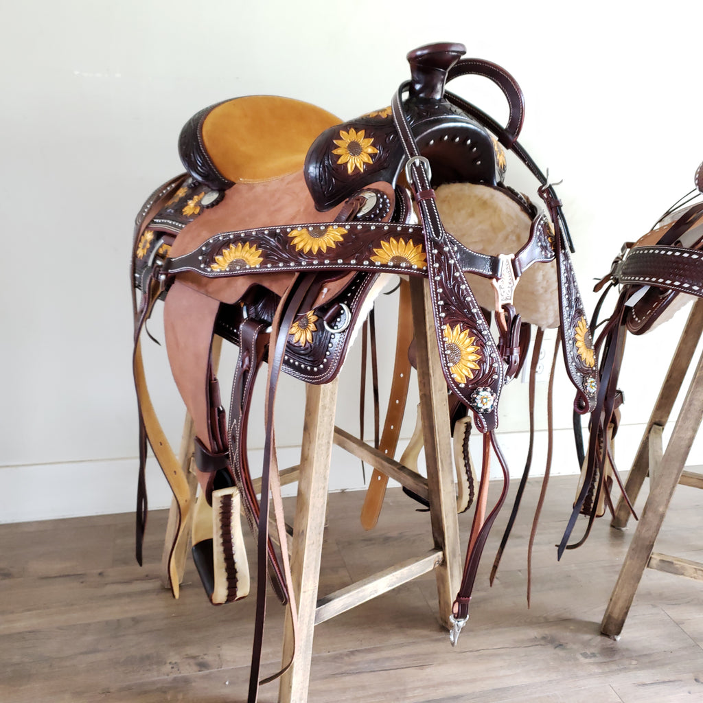 Youth Sunflower Sweetheart Saddle Traditional Collection Riding Free Tack