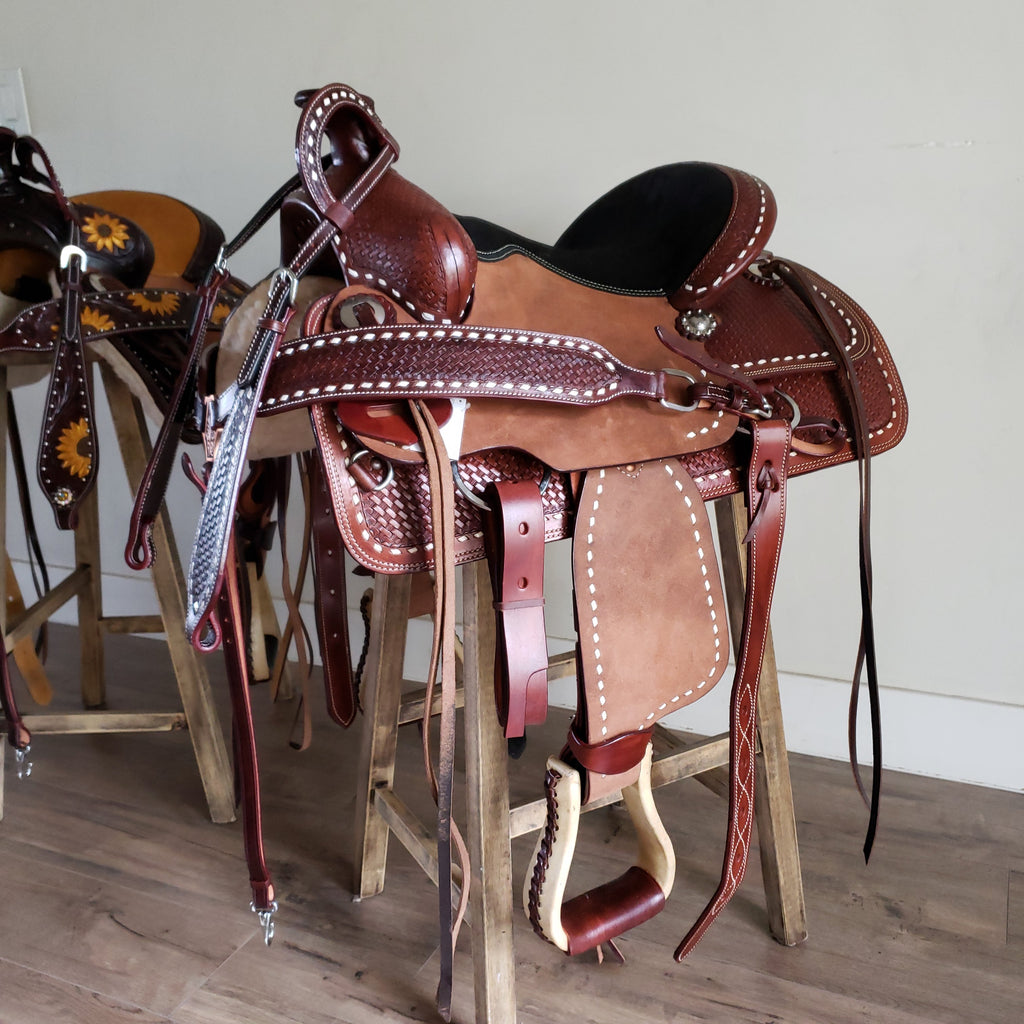 Youth Buckaroo Buckstitch Saddle Traditional Collection Riding Free Tack