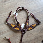 Pony Sunflower Headstall and Breast Collar Set