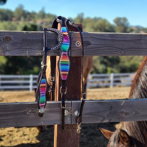 Serape Sunset Headstall & Breast Collar