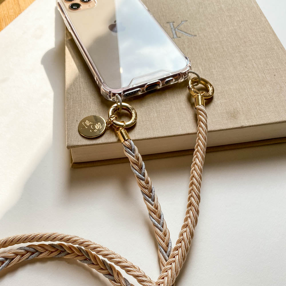 iPhone phone chain crossbody case removable iPhone case with leather chain Phone chain iPhone brown