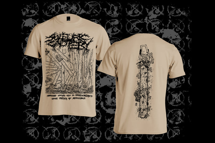 SULFURIC CAUTERY - Chainsaws Clogged With The Underdeveloped Brain Matter Of Xenophobes T-shirt