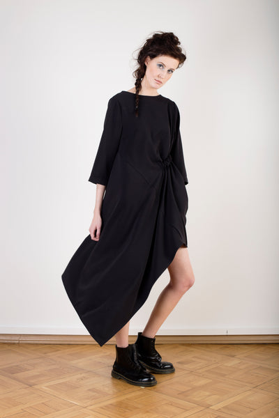 Asymmetric Dress With One Pocket