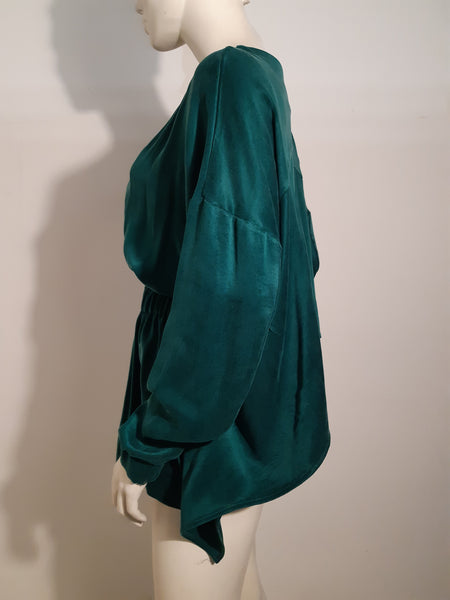 OPEN BACK  GREEN JACKET