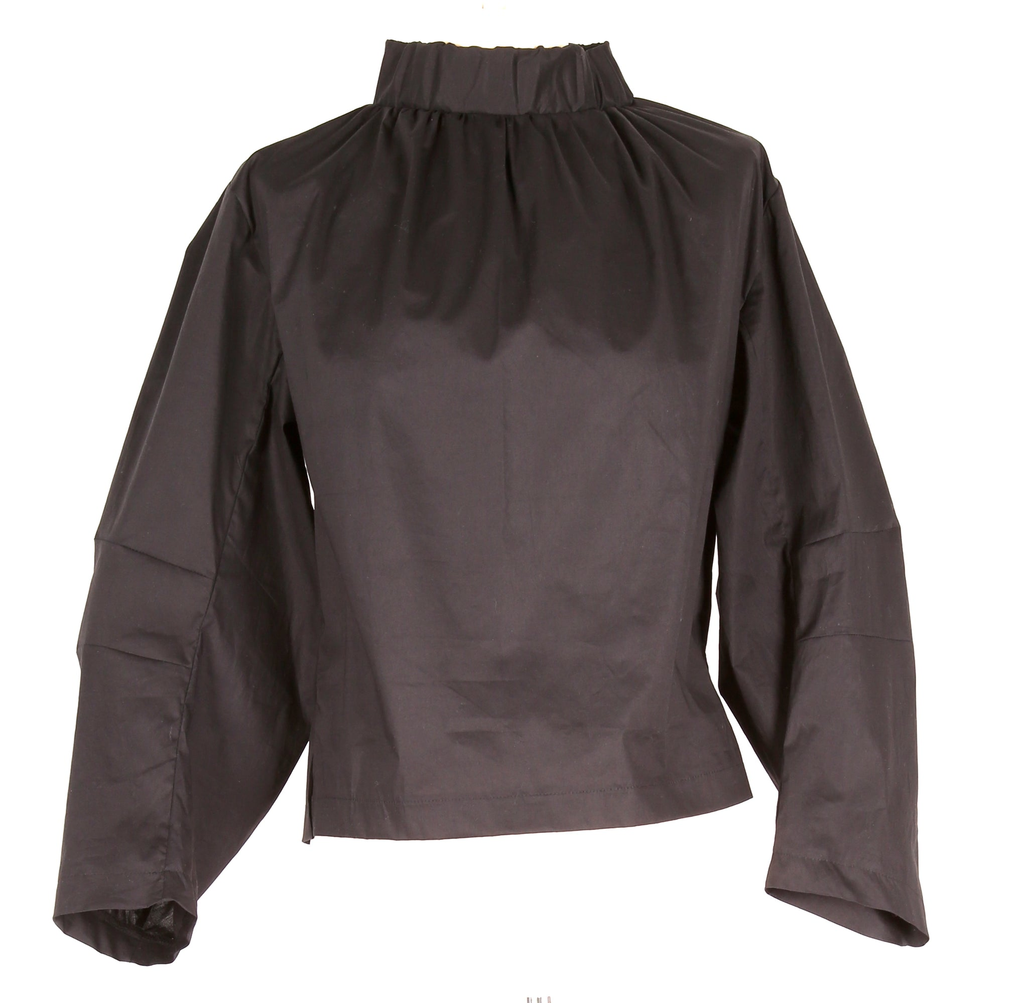 Black Blouse With a Gathering