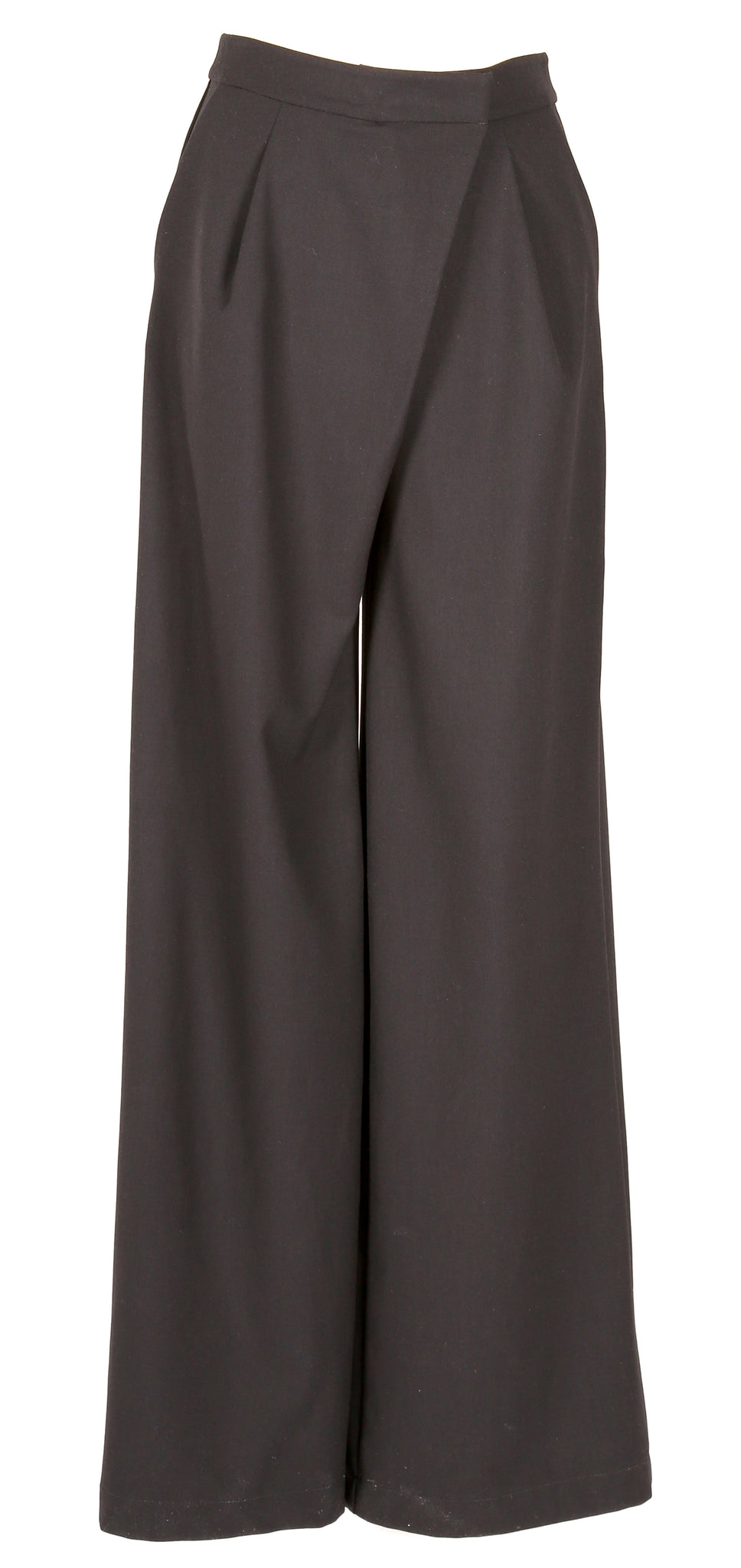 Wide leg  wool trousers