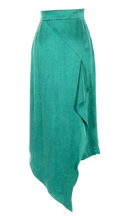 Emerald diagonal panel skirt