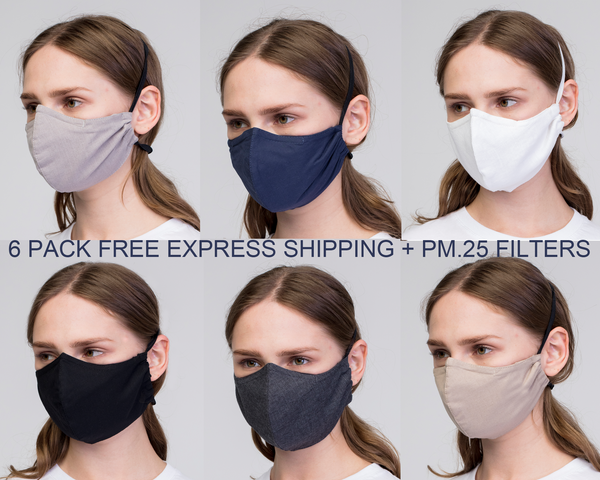 Grey face mask,  Reusable anti-fog Face Mask for glasses,  with nose Wire/ Pelēkas  kokvilnas auduma Maska