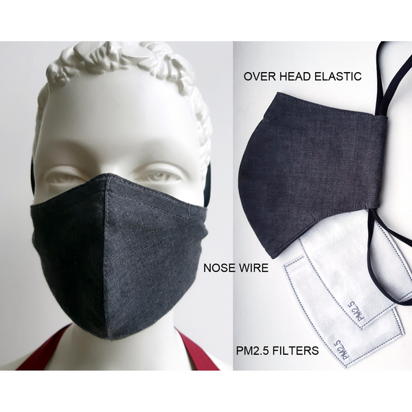 6 pack face mask, over the head face mask,, reusable face mask with wire/ 6 sejas Maskas ar filtriem