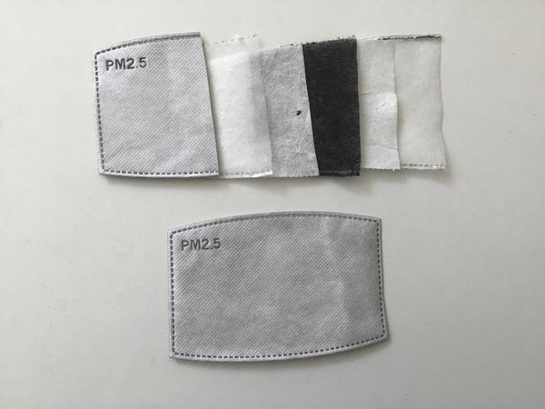 PM2.5 Filters-set of 10 filters- 5 Layer face mask Filter/melt blown layer filter/activated carbon mask filters
