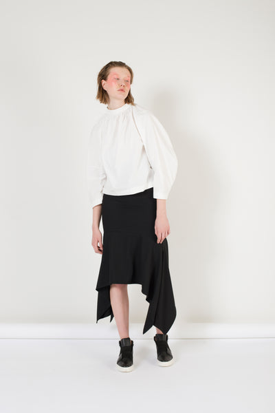 Curved line skirt