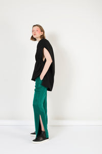 Emerald  trousers with splits