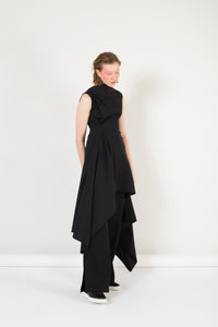 Asymmetric  Virgin Wool dress