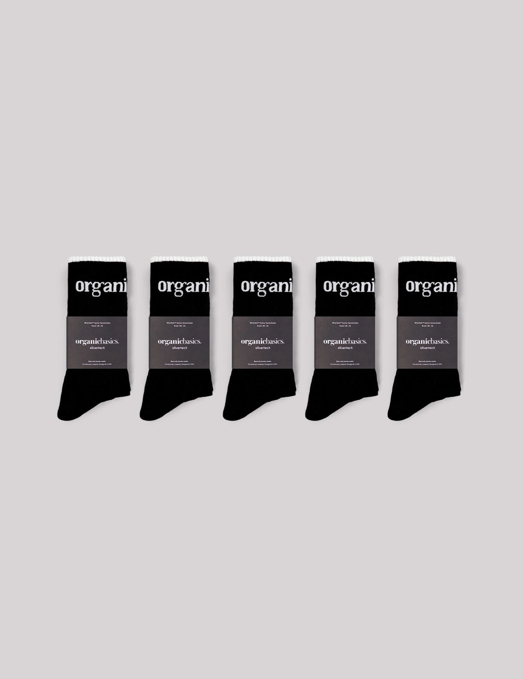 SilverTech™ Active Tennis Socks 5-pack