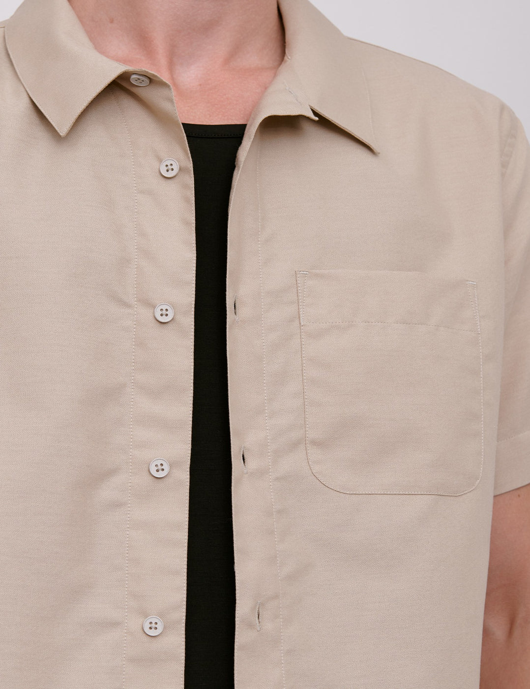 Organic Cotton Oxford Short-Sleeved Shirt