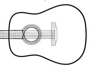 6-String Acoustic V-Brace Guitar Plans