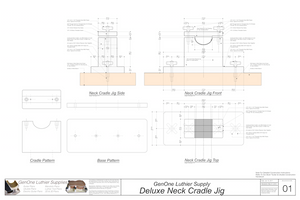 Deluxe Neck Cradle Plans, top, side and end views
